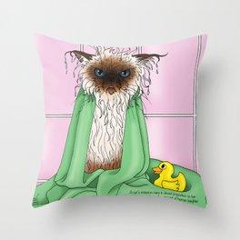 Bathtime Humiliation Throw Pillow