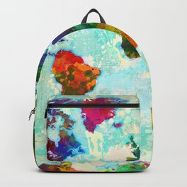 Abstract Map of the World Backpack