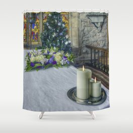 Candles At Christmas Shower Curtain