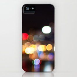 Light Art | Melbourne city (Yarra River) iPhone Case