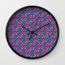 Ethnic psychedelic 2 Wall Clock