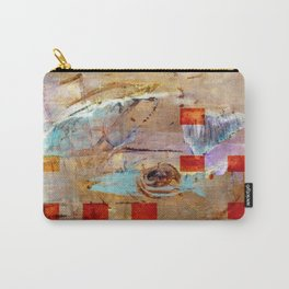 abstract in beige Carry-All Pouch