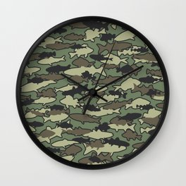 Fish Camo JUNGLE Wall Clock