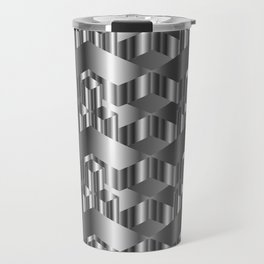High grade metal texture- reflective mirrored surface Travel Mug