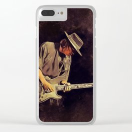 Stevie Ray Vaughan, Music Legend Clear iPhone Case