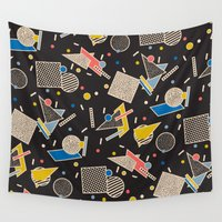 eames Wall Tapestries featuring Memphis Inspired Design 8 by Season of Victory