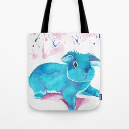 Fuzzy Bunny Walking By Tote Bag
