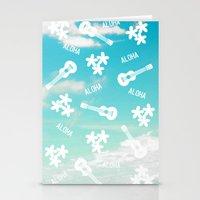 aloha Stationery Cards featuring ALOHA by M.ART