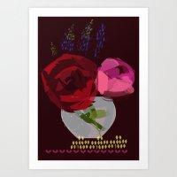Graphic Rose Art Print