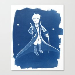 Little Prince Cyanotype Canvas Print