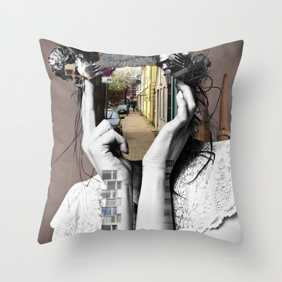 Crazy Woman - Lara Lisa Bella Throw Pillow