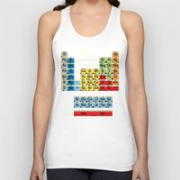 periodic table Tank Tops featuring Periodically Fictional Table by AMO Design
