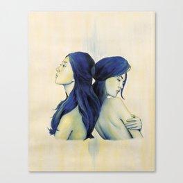 Swan Sisters Canvas Print