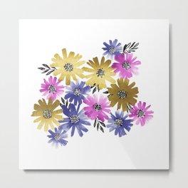 Flower Cluster Metal Print