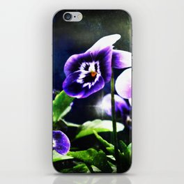 Violet Johnny Jump Ups And Stars iPhone Skin