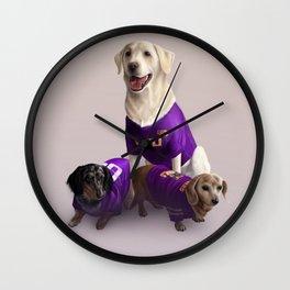 LSU Dogs Wall Clock