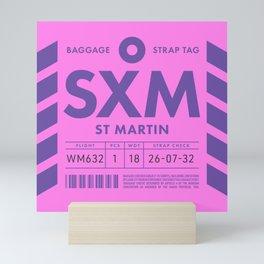 Luggage Tag D - SXM Saint Martin (Sint Maarten) Netherlands Mini Art Print