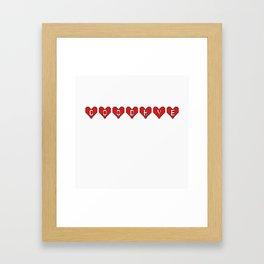 Goodbye Hearts Framed Art Print