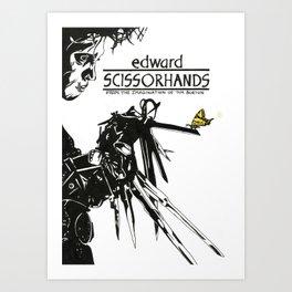 Edward Scissorhands Art Print