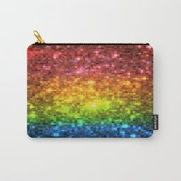 Rainbow Galaxy Stars Pixels Carry-All Pouch