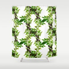 Blueberry Branch in Spring Shower Curtain