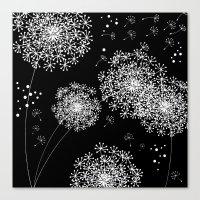 dandelion Canvas Prints featuring DANDELIOn by Monika Strigel