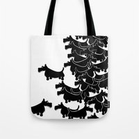 terrier Tote Bags featuring Scottish Terrier by mailboxdisco