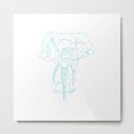 Lonely Elephant Metal Print