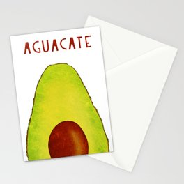 Aguacate Avocado Red Hand Lettering Stationery Cards