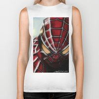 spider man Biker Tanks featuring Spider-Man by Inspirations