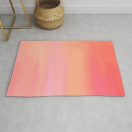Adrenaline Rush Subsiding: Red Abstract Oil Painting with Streaks and Lines Rug