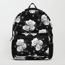 Dark and White Roses Backpack