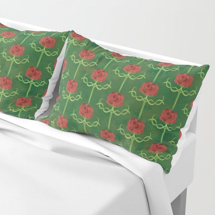 Spring Roses Pattern Pillow Sham
