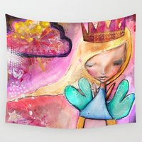 fairy Wall Tapestries featuring Fairy by SannArt