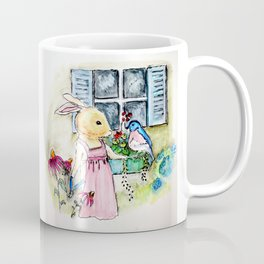 Watercolor from Rigley Rabbit and his Ginormous Floppy Ears Coffee Mug