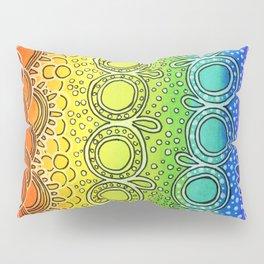 Rainbow Doodle Pillow Sham