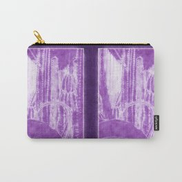 Cactus Garden Outlined Purple Carry-All Pouch