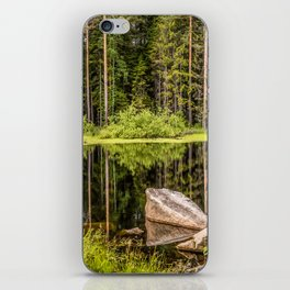Quiet Forest lake iPhone Skin