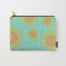 Summer Flowers - Blue Carry-All Pouch