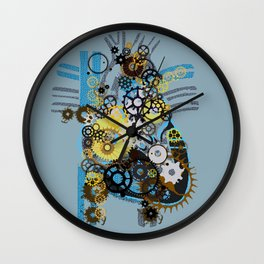 Cogs Of Your Heart Wall Clock
