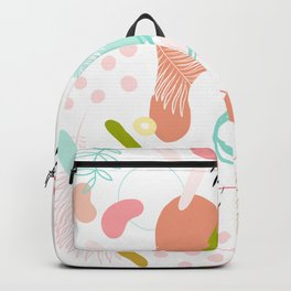 Organic Nature - Memphis Pattern on white Backpack