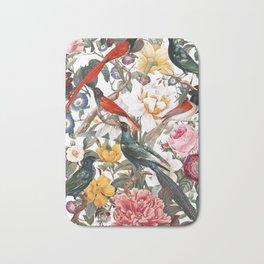 Floral and Birds XXXV Bath Mat
