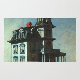 The House By The Railroad By Edward Hopper 1925 Rug