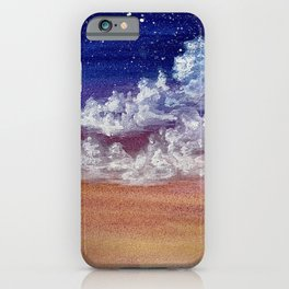 Colorful Sunset Clouds Painting iPhone Case