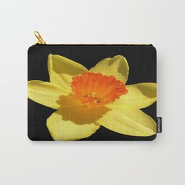 Spring Daffodil Isolated On Black Carry-All Pouch