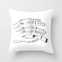satan Throw Pillows featuring Satan by Sparganum