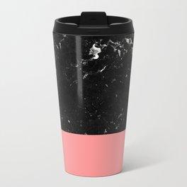 Coral Meets Black Marble #1 #decor #art #society6 Metal Travel Mug