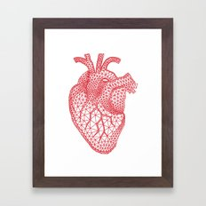 abstract red heart Framed Art Print