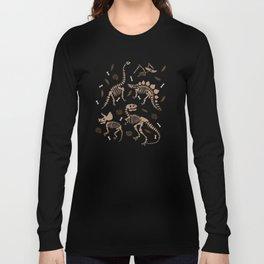 Fossil Dinosaur Pattern Long Sleeve T-shirt