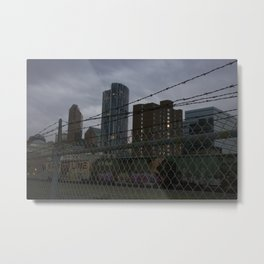 View of downtown Calgary from the other side of the tracks Metal Print